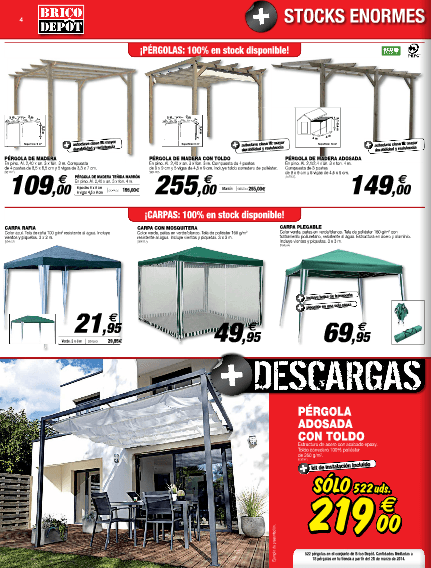 pergolas bricodepot muebles para el hogar. Black Bedroom Furniture Sets. Home Design Ideas