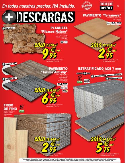 Brico depot 2014 suelos madera for Casetas de madera baratas para jardin brico depot