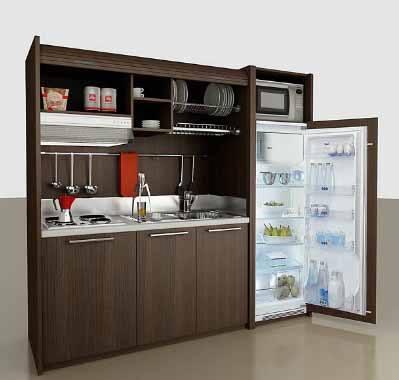 tendencias 2014 para los modelos de mini cocinas compactas modelo madera de mobilspazio. Black Bedroom Furniture Sets. Home Design Ideas