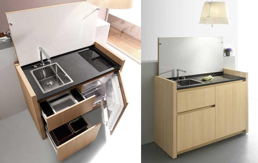 M s modelos de mini cocinas compactas for Modelos de mini apartamentos