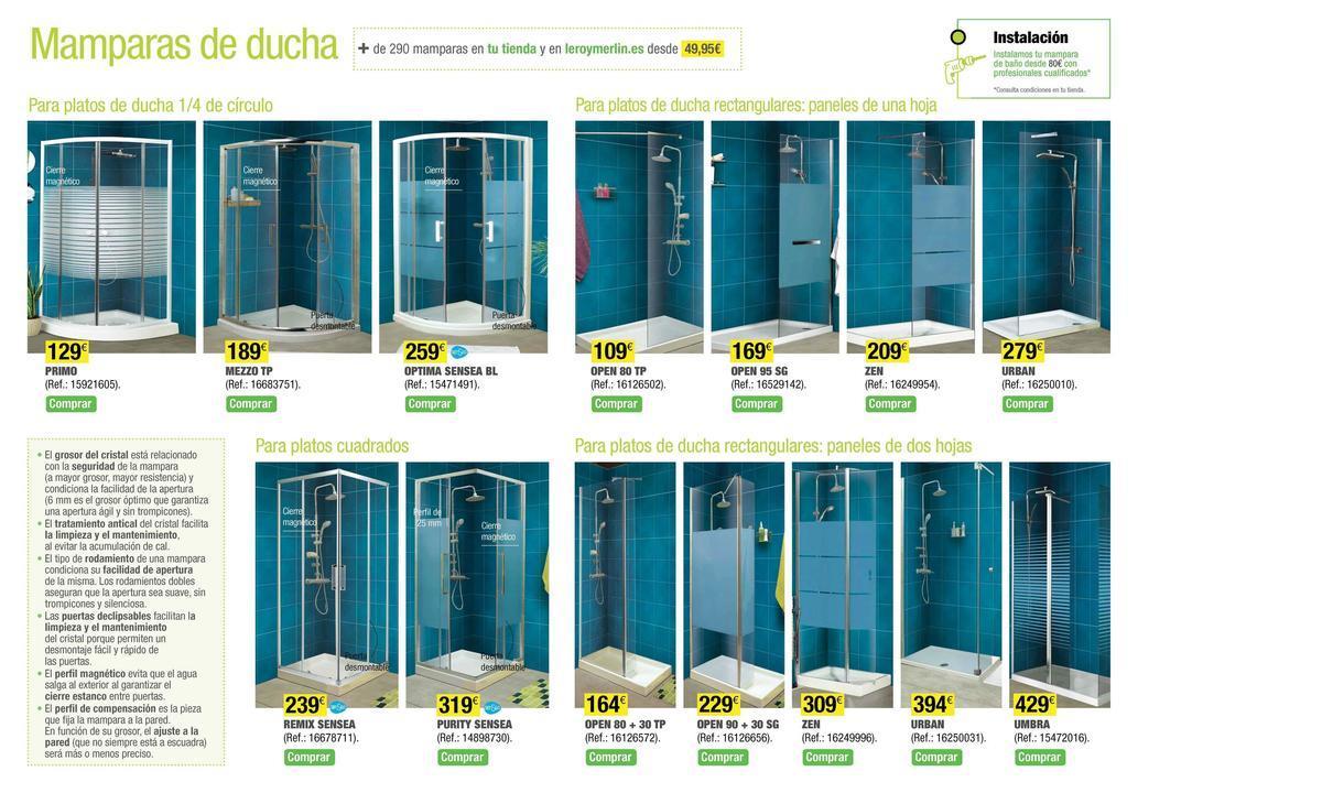 catalogo leroy merlin mayo 2014 mamparas ducha