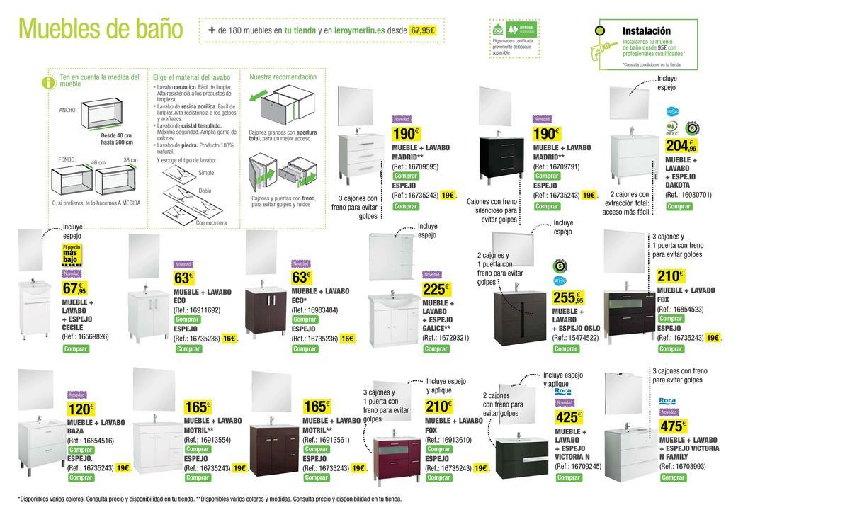 Muebles De Baño Sencillos:Catalogo-Leroy-Merlin-mayo-2014-muebles de baño-sencillos