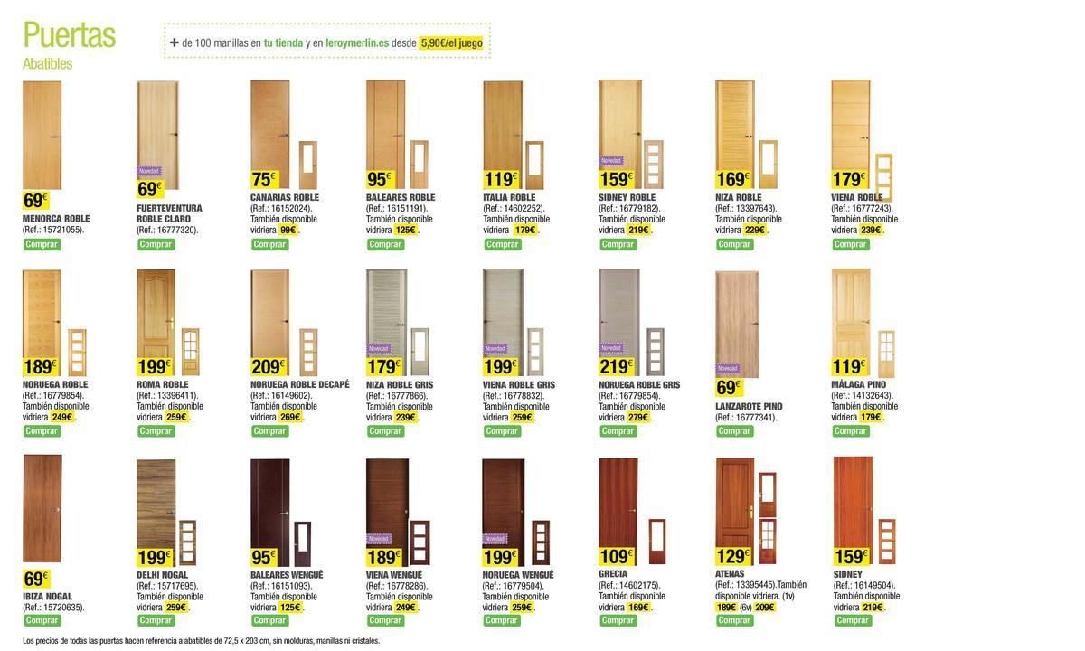 Catalogo leroy merlin mayo 2014 puertas colores for Puertas cocina leroy merlin