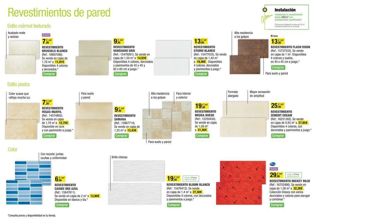 Catalogo leroy merlin mayo 2014 revestimientos pared for Catalogo de leroy merlin