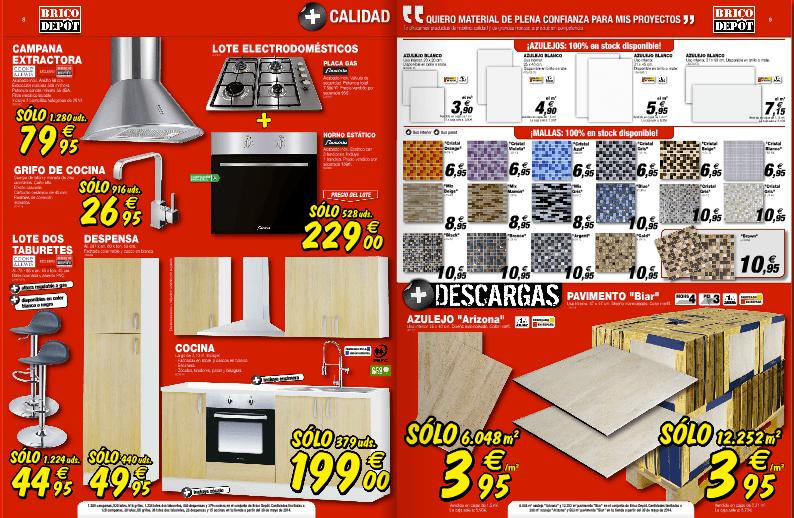 Cocinas baratas azulejos catalogo brico depot junio 2014 for Catalogo cocinas baratas