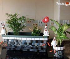 Cómo decorar tus macetas con Mallas de cerámica