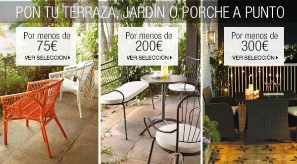 Muebles jardin corte ingles excellent muebles de resina for Rebajas mobiliario jardin