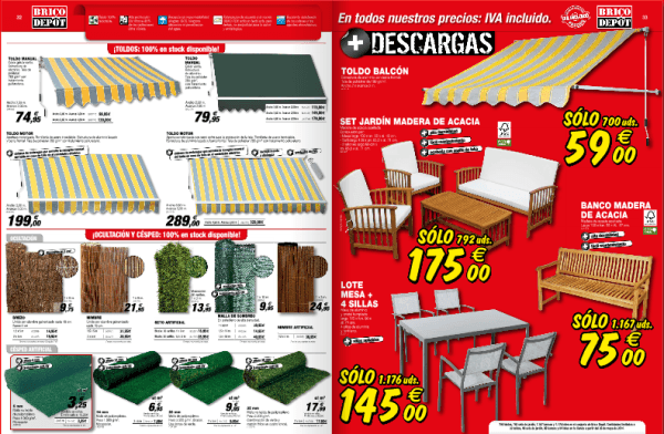 Toldos cesped muebles jardin catalogo brico depot junio 2014 for Bricodepot mesa jardin