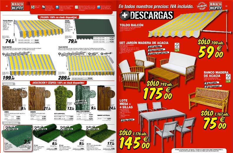 toldos cesped muebles jardin catalogo brico depot junio 2014