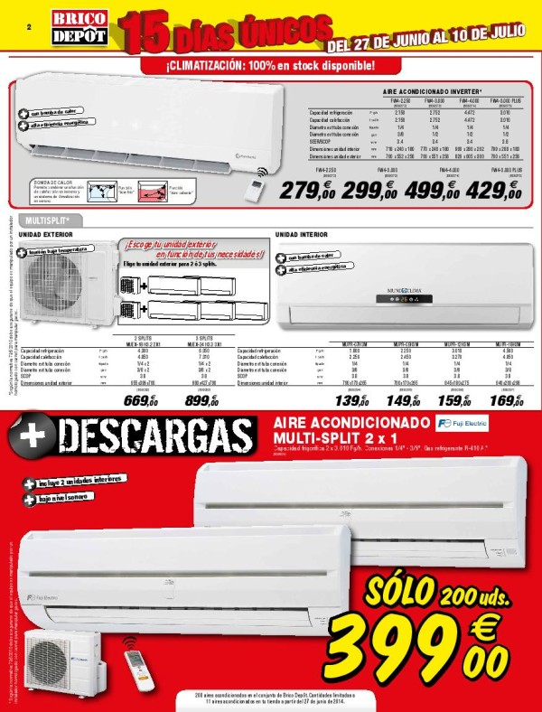 Brico depot catalogo julio 2014 aire acondicionado for Compresor de aire bricodepot