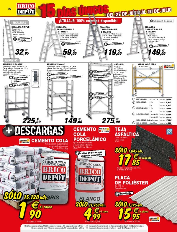 andamio aluminio brico depot transportes de paneles de On escaleras aluminio brico depot
