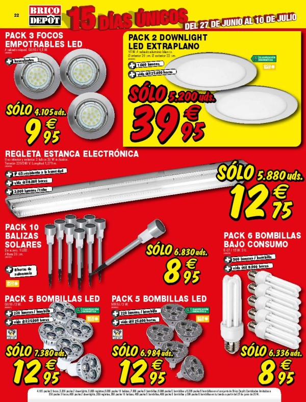 Brico depot catalogo julio 2014 bombillas for Caseta jardin brico depot