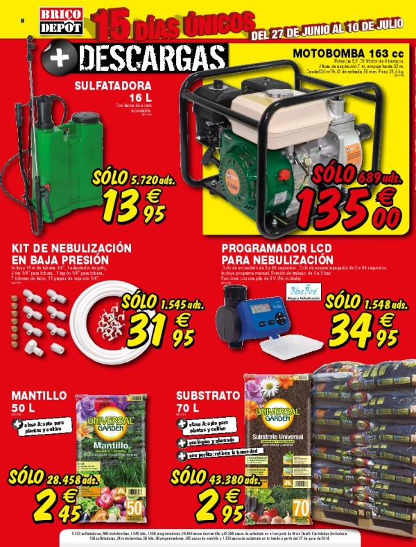 Brico depot catalogo julio 2014 compresor for Compresor de aire bricodepot