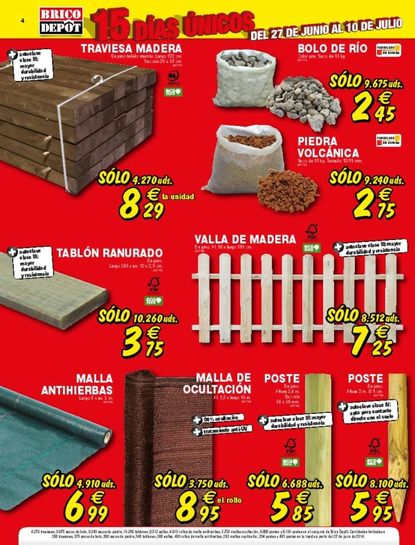 Brico depot catalogo julio 2014 jardin for Caseta jardin brico depot