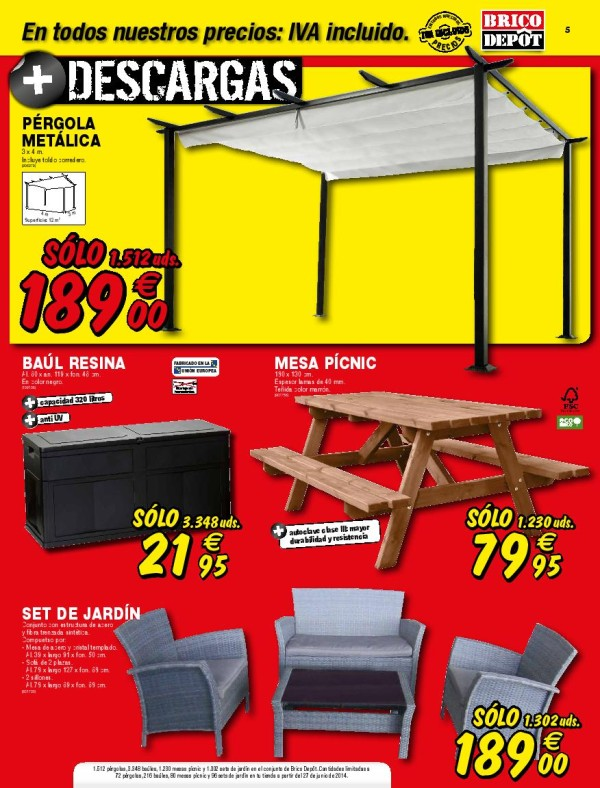 brico depot catalogo julio 2014 pergola jardin. Black Bedroom Furniture Sets. Home Design Ideas