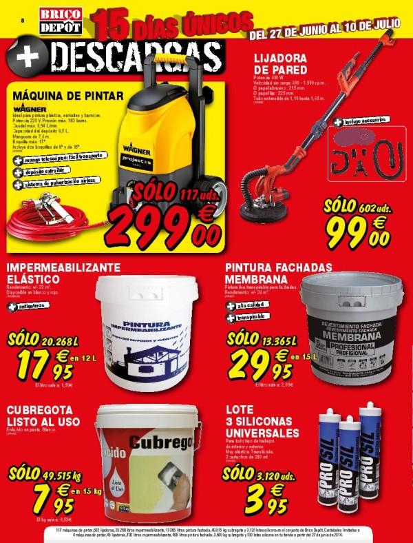 Brico depot catalogo julio 2014 silicona for Chapas para tejados bricodepot