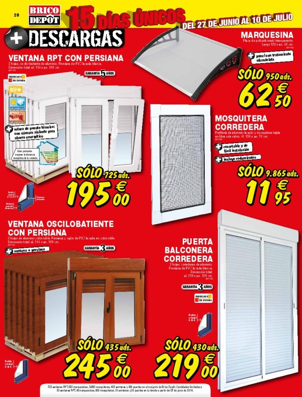 Brico depot catalogo julio 2014 ventanas for Caseta jardin brico depot