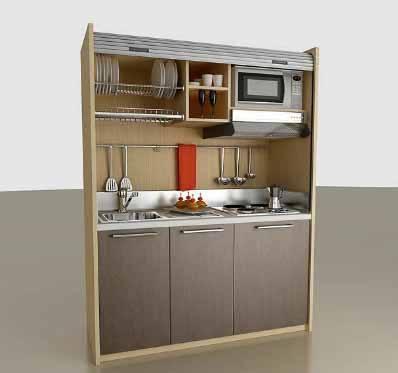 mas modelos de mini cocinas compactas modelo pedini - Mini Cocinas