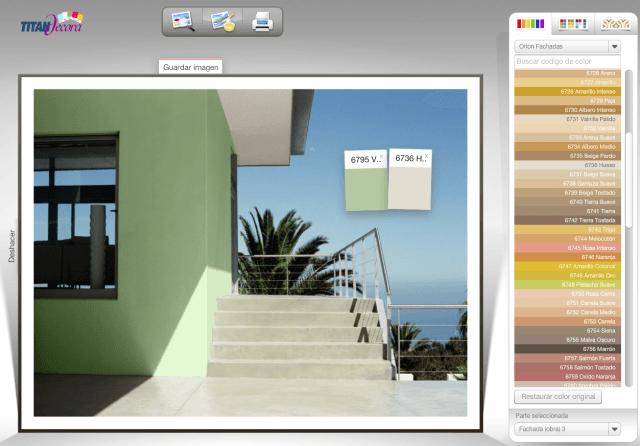 Simulador colores decoracion - Colores de pinturas para salones ...