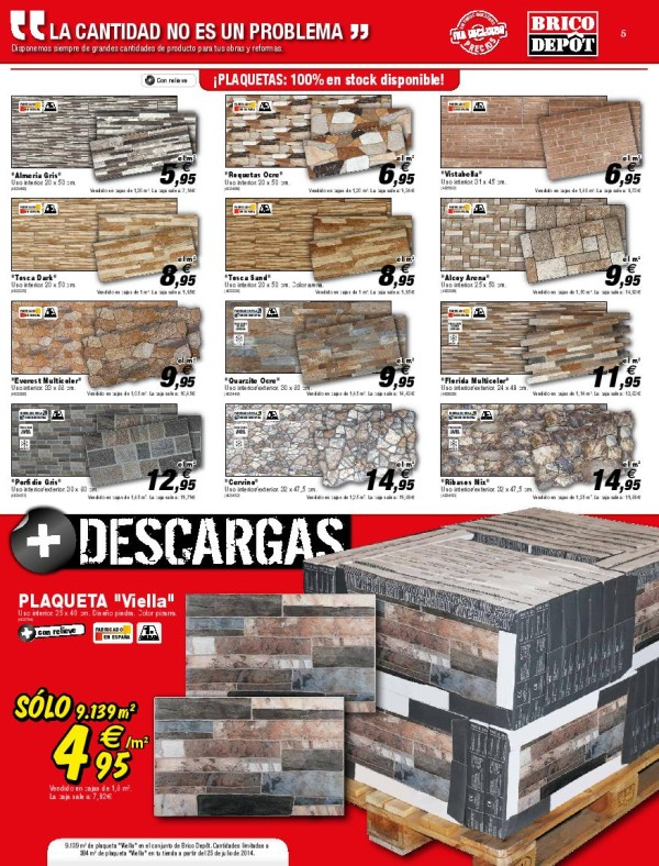 05 revistimento catalogo brico depot septiembre 2014 for Caseta jardin brico depot