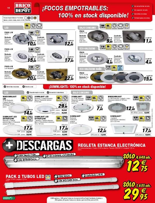 14 focos empotrables catalogo brico depot septiembre 2014 for Caseta jardin brico depot
