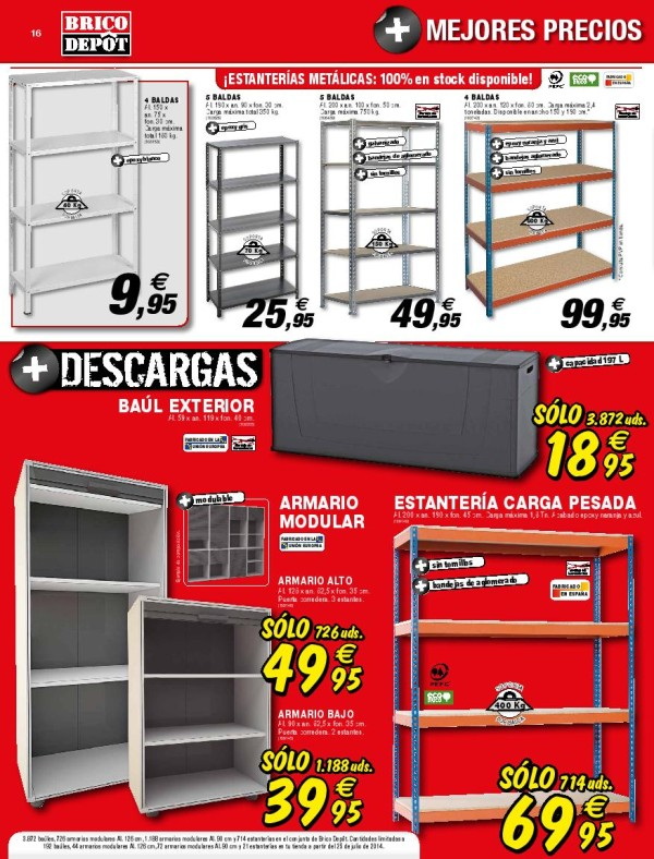 16 estanteria catalogo brico depot septiembre 2014 for Caseta jardin brico depot