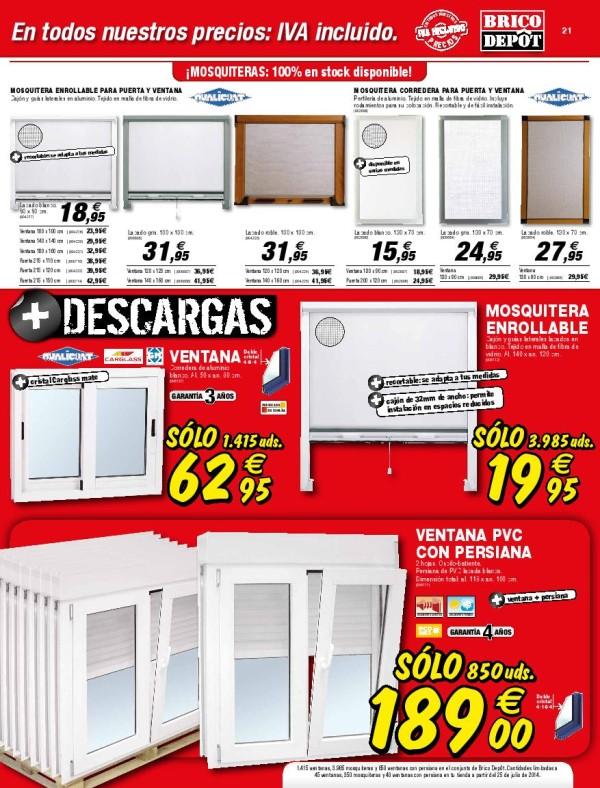 21 ventanas pvc catalogo brico depot septiembre 2014 - Ofertas de bricodepot ...