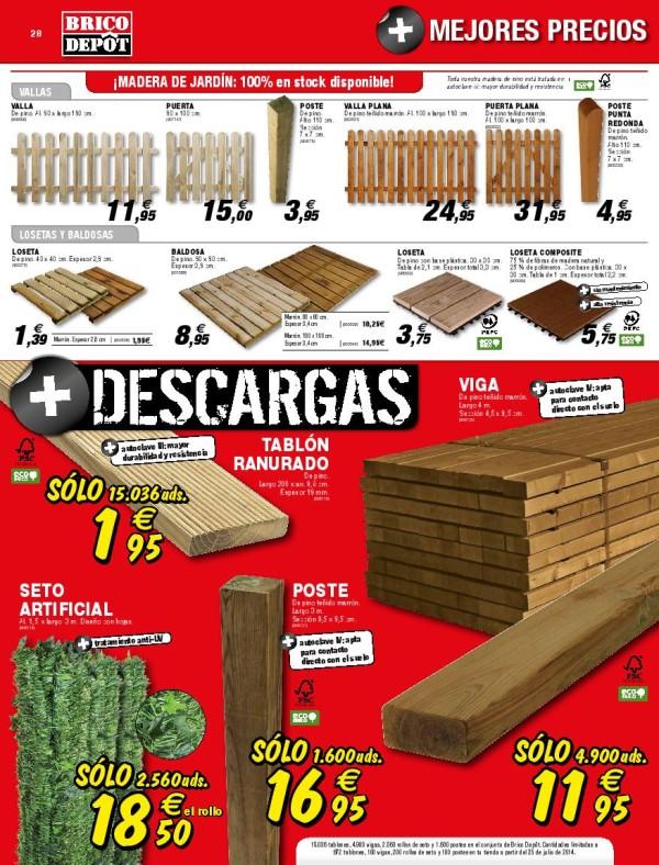 28 brilliant pergolas de madera brico depot - Verjas de madera ...