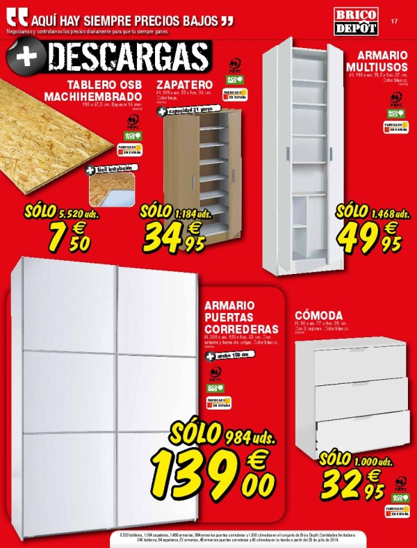 Catalogo brico depot agosto 2014 armarios dormitorio - Puertas de armarios de cocina en brico depot ...