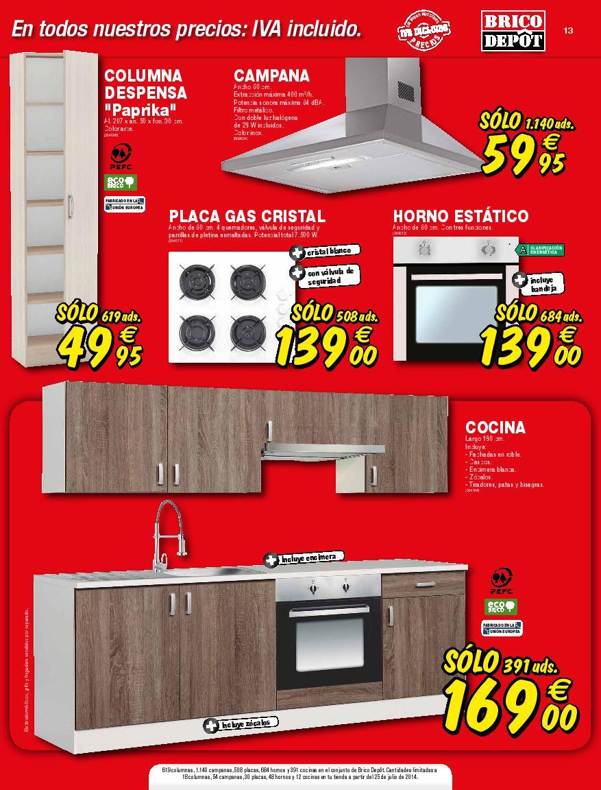 Catalogo brico depot agosto 2014 cocinas baratas - Conforama cocinas baratas ...