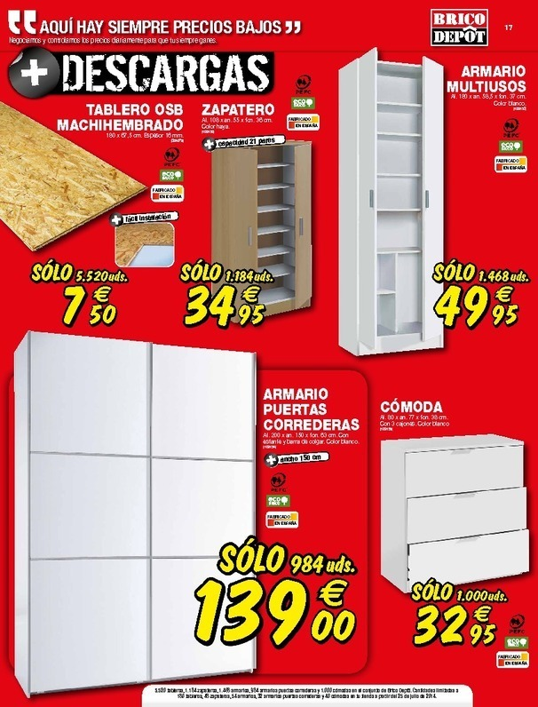 Cat logo brico depot alcal agosto 2014 - Armario despensero bricomart ...
