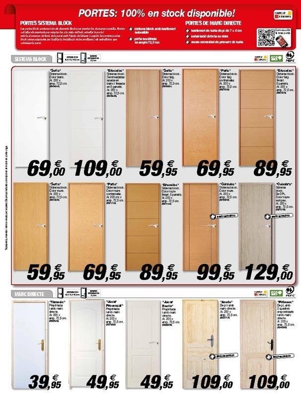 Catalogo de puertas de interior brico depot materiales for Brico depot puertas interior