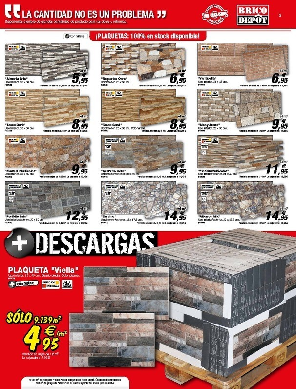 Bricodepot revestimiento de paredes materiales de - Paneles imitacion piedra bricodepot ...
