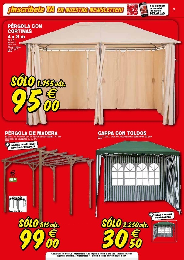 Cortinas para pergolas leroy merlin good great trendy - Pergola madera brico depot ...