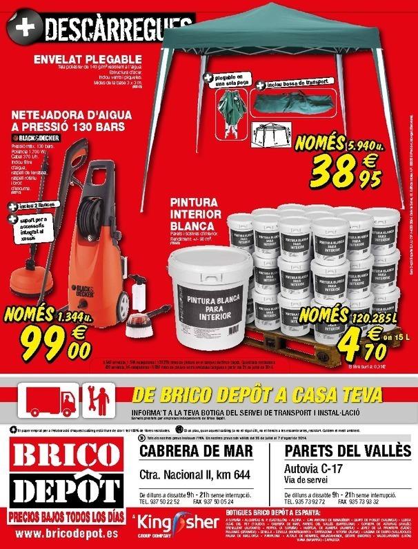 Cat logo brico depot parets del valles agosto 2014 for Catalogo brico
