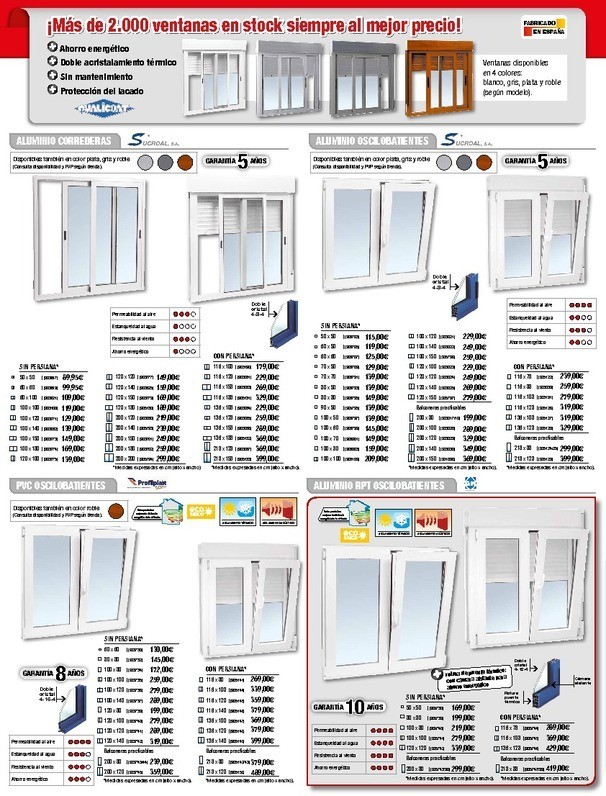 Ventanas bricodepot materiales de construcci n para la for Ventanas de aluminio baratas online