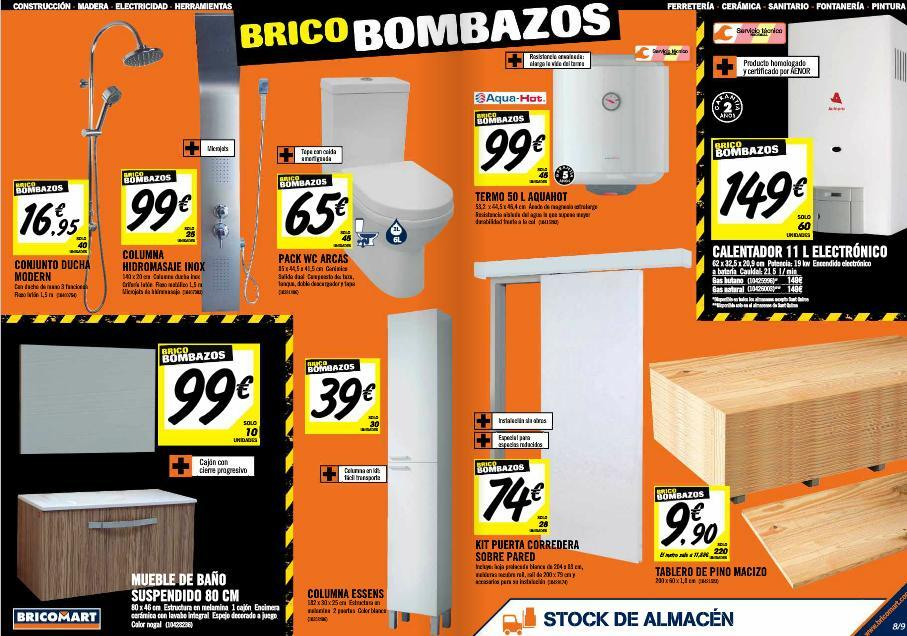 Cat logo bricomart julio 2014 por provincias for Muebles zapateros bricomart
