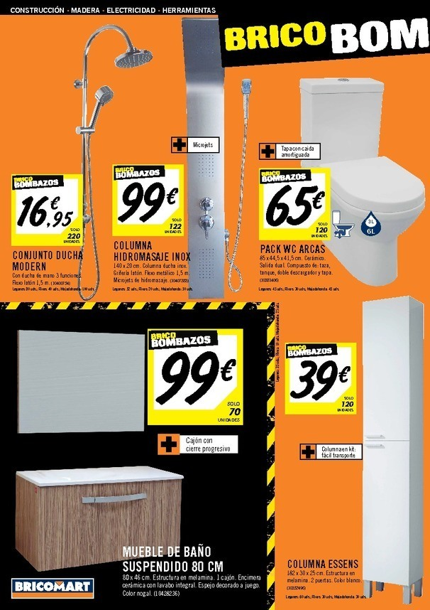 Bricomart madrid catalogo hydraulic actuators for Muebles bano bricomart