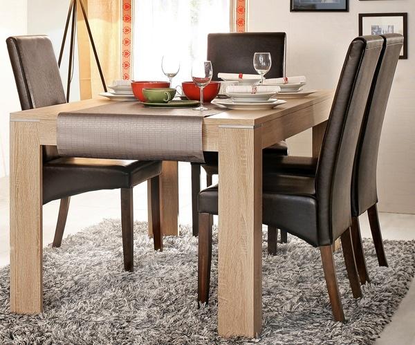 Comedores modernos mesa madera sillas cuero muebles tuco for Sillas comedor tapizadas modernas