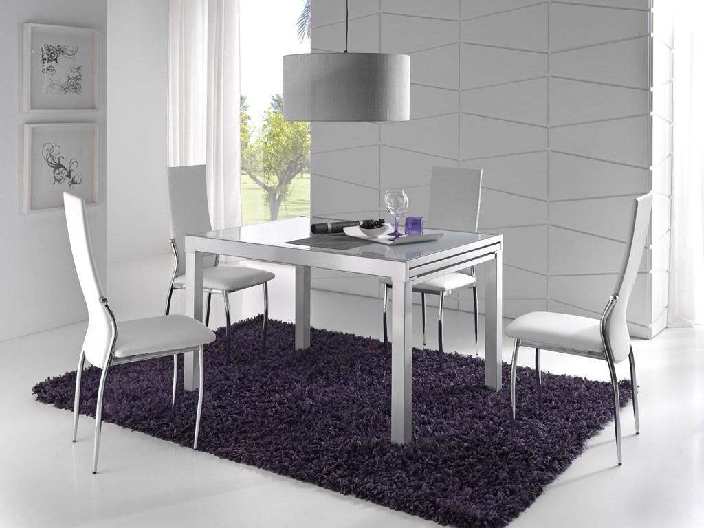 Comedores modernos mesas sillas aluminio muebles rey for Decoraciones para comedores