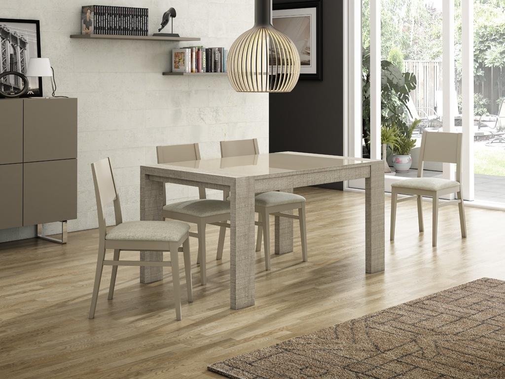 Comedores modernos muebles mesa de cristal extensible for Comedores rectangulares modernos