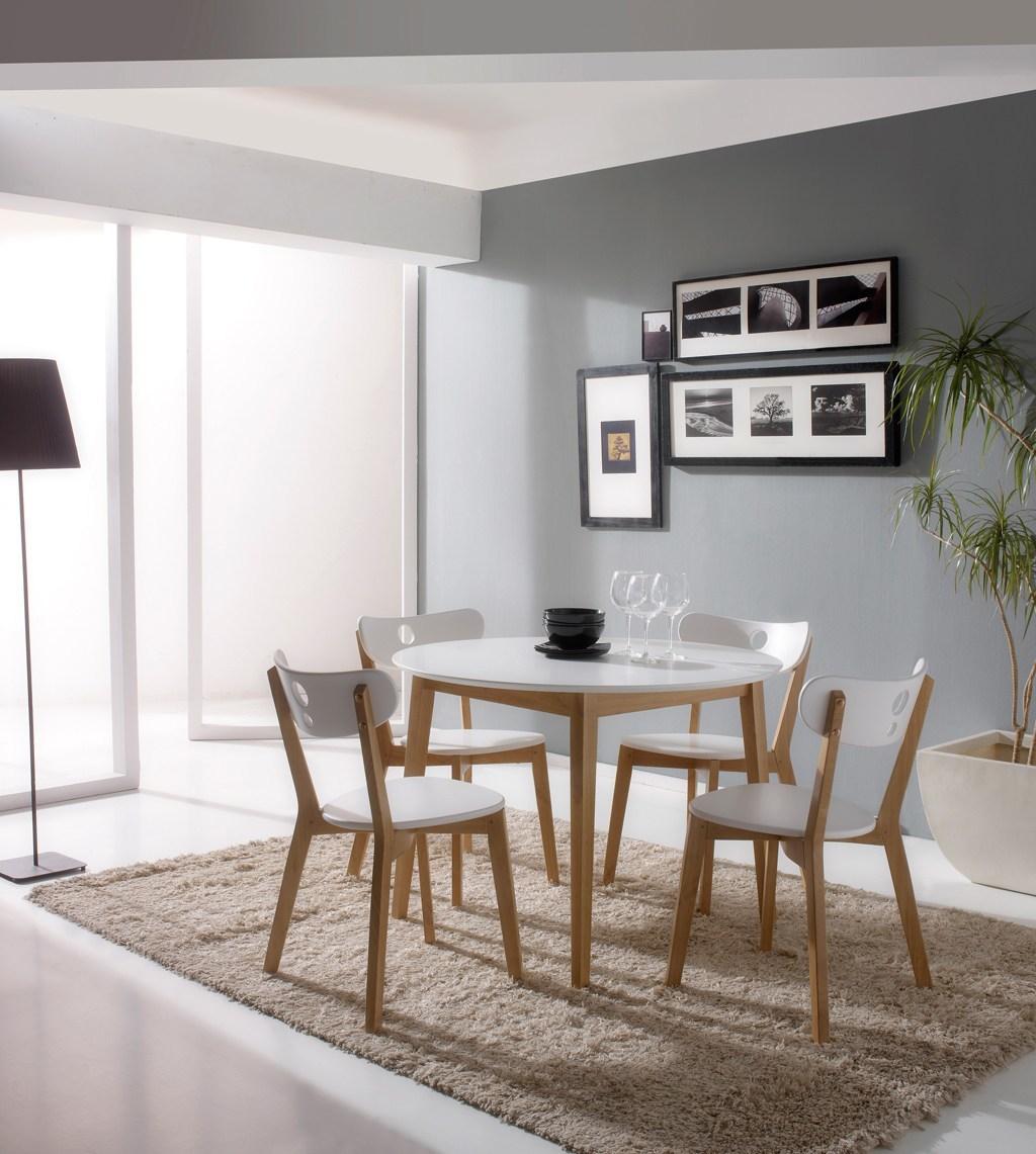Comedores modernos muebles mesa redonda colores claros - Comedores mesa redonda ...
