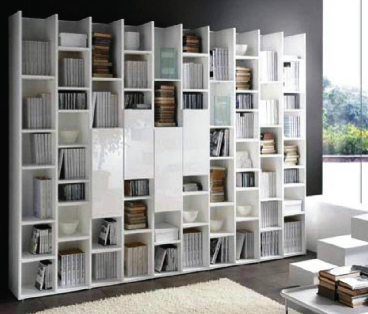 diseño-bibliotecas-fotos-modelo-blanco-moderno