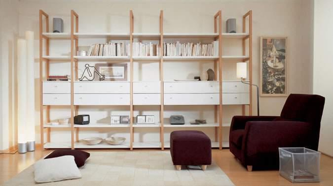 Dise o bibliotecas fotos modelo madera minimalista for Programa para crear espacios interiores