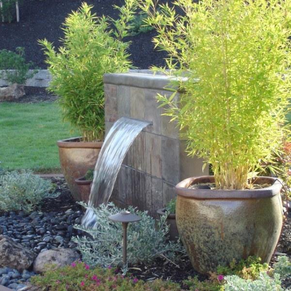 De 100 fotos de modelos de fuentes de jard n - Jardines con fuentes de agua ...