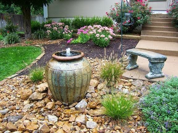 M s de 100 fotos de modelos de fuentes de jard n que os for Modelos de jardines sencillos