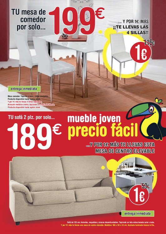Cat logo muebles tuco abril 2016 for Muebles el poligono chiclana catalogo