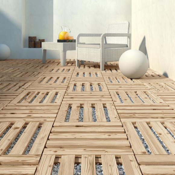Suelos de exterior sin obras for Ideas para terrazas baratas