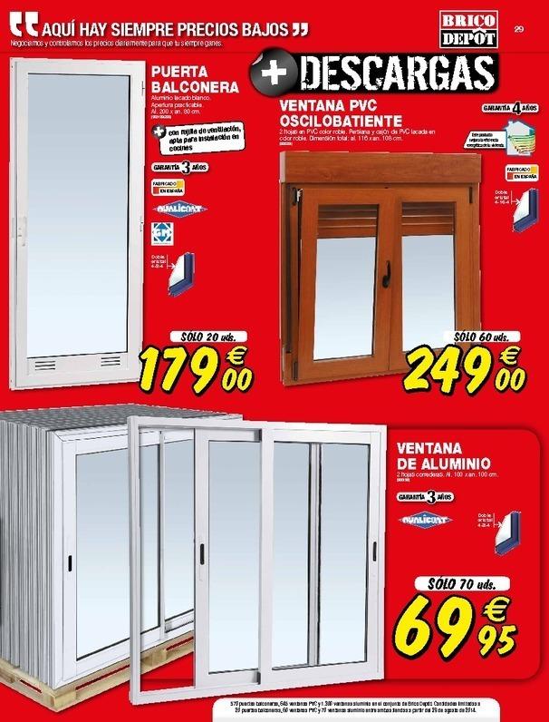 Balconeras de aluminio brico depot materiales de - Puertas correderas bricomart ...