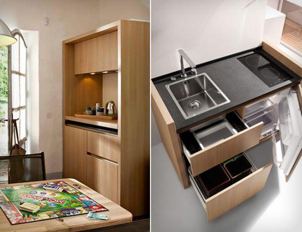 cocina-integrada-pequeñas-cajones-y-armarios